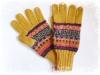 アルパカ手編み手袋 イエロー