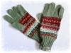 アルパカ手編み手袋 グリーン