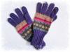 アルパカ手編み手袋 パープル