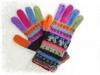 アルパカ手編み手袋 鳥