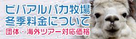 冬季限定「団体・海外ツアー体験料」について