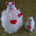 アルパカ原毛人形