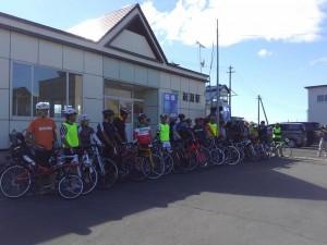 町民サイクリング・出発式