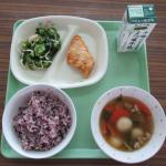 18日黒米給食